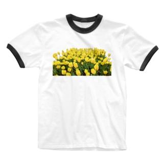 ニムニムのお部屋のきいろい ちうりっぷ Ringer T-shirts