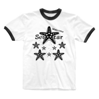 表_CT139 Welcome!ヒトデ*A Ringer T-shirts