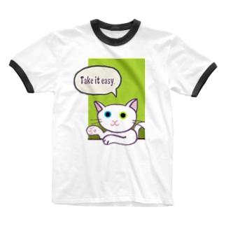 SU-KUのTake it easy Ringer T-shirts