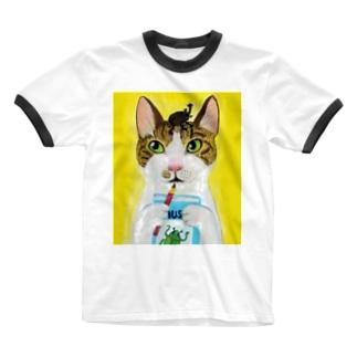 のっぴきならない/保護猫レッティ Ringer T-shirts