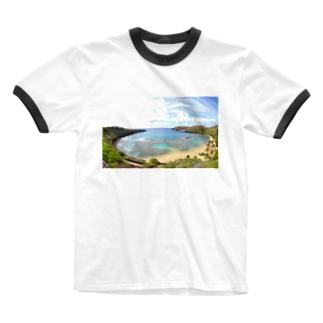 ハナウマ湾 Ringer T-shirts