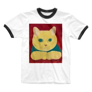 のっぴきならない/保護猫カール Ringer T-shirts
