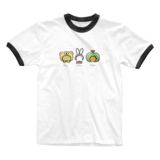 かぶりものトリオのかぶりもの Ringer T-shirts