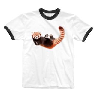 レッサーパンダM Ringer T-shirts