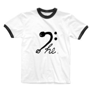 ヘ音じゃくし Ringer T-shirts
