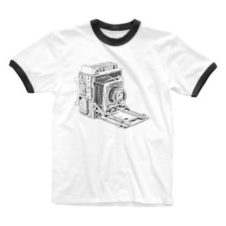 スピグラ Ringer T-shirts