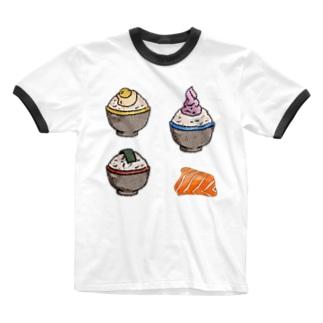 ご飯 Ringer T-shirts