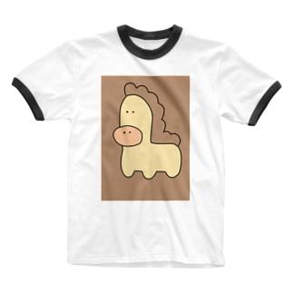 ちょっと残念すぎる馬 Ringer T-shirts