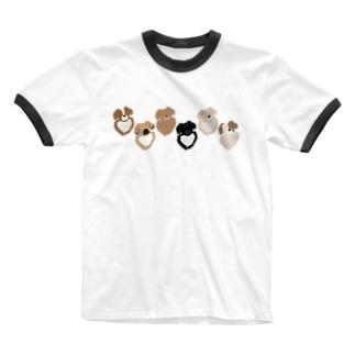 チベ並べ Ringer T-shirts
