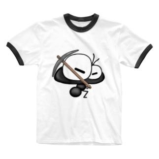 ありんこ君 つるはし Ringer T-shirts