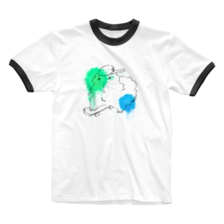LIFE_is_a_JOKEのクールモル Ringer T-shirts