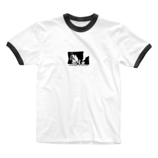 ラリ君 Ringer T-shirts