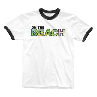 ON THE BEACH Ringer T-shirts
