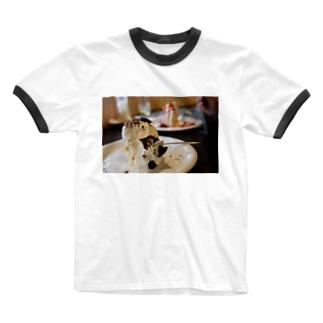 シフォンケーキ Ringer T-shirts