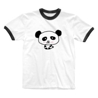 🐼パンダ Ringer T-shirts