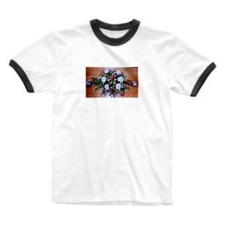 ソフィフラワー Ringer T-shirts