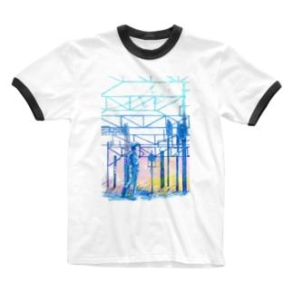 矢ヶ崎第一閉そく信号機(碓氷線) Ringer T-shirts