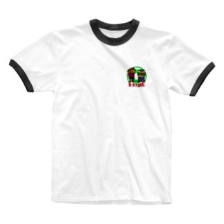 french fries  hamburger Ringer T-shirts