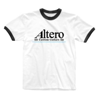 Altero Custom Guitars02(淡色向け) Ringer T-shirts
