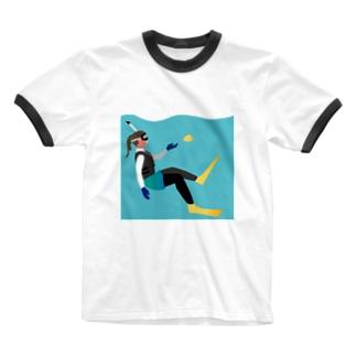 アウトドアシリーズ<シュノーケリング> Ringer T-Shirt