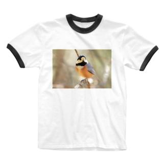 ヤマガラ2 Ringer T-shirts