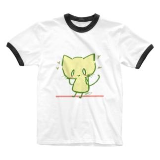 はぴなご! Ringer T-shirts