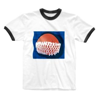 桃 Ringer T-shirts