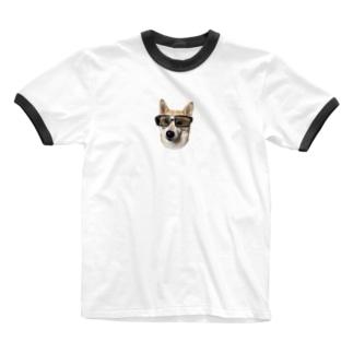 サングラス美人 Ringer T-shirts