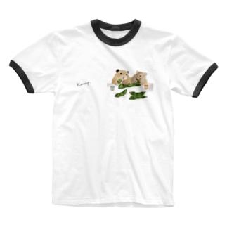 【KAMAP】枝豆とハムスター兄弟 Ringer T-shirts