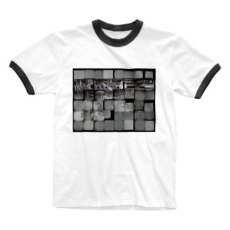 あらけずり作品 Ringer T-shirts
