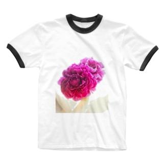 立てば芍薬、座れば牡丹の可憐な世界 Ringer T-shirts