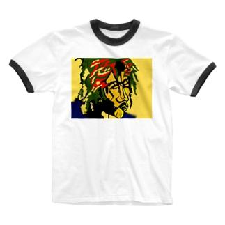 ワンloveレゲエ Ringer T-shirts