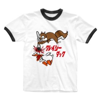 クレイジーダック Ringer T-shirts