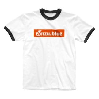 anzu ロゴ(URL) tyle2 Ringer T-shirts