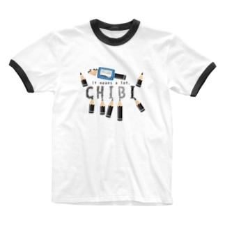 CT156 ちびた鉛筆*A Ringer T-shirts