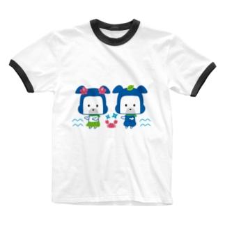 忍者犬たろうくん_フラダンス修行 Ringer T-shirts