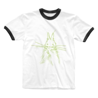うざぎ Ringer T-shirts