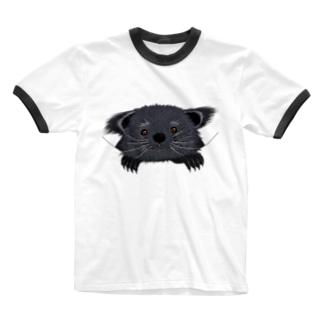 ビントロングぅー Ringer T-shirts
