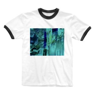 海の中を彷徨う② Ringer T-shirts