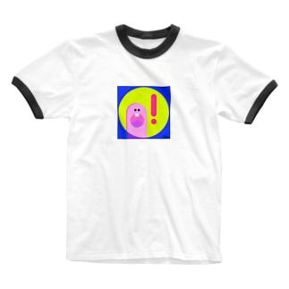 Illustrator colina / colinazshopのびっくり Ringer T-shirts
