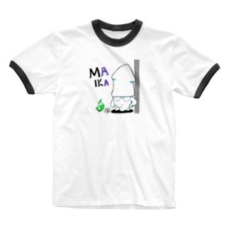 まいかポーズ Ringer T-shirts