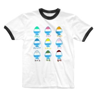 かき氷イラスト Ringer T-shirts