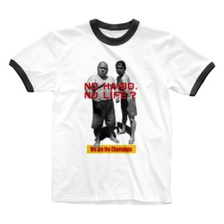 ハワイな二人〜Champion ver. Ringer T-shirts