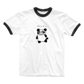 ぱんだ Ringer T-shirts