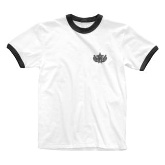 大日本帝国陸軍近衛師団帽章(ワンポイント グレー) Ringer T-shirts