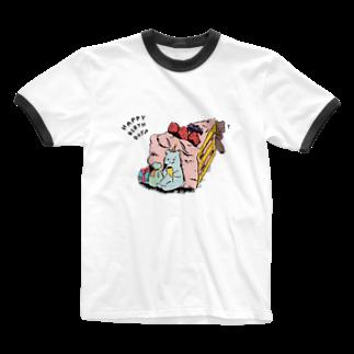 aaのドキドキ Ringer T-shirts