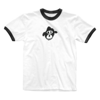 ごりら Ringer T-shirts