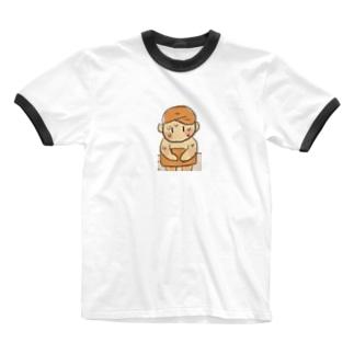 サウナちゃん Ringer T-shirts