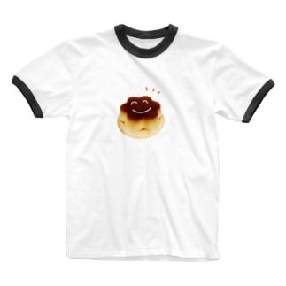 にっこりぷりんちゃん Ringer T-shirts