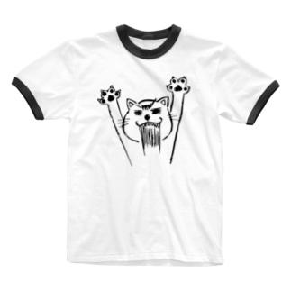 ネコニャース Ringer T-shirts